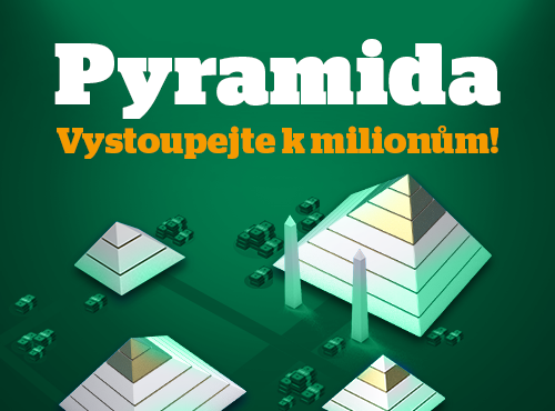 Hrajte Pyramidu! Na vrcholu leží nejméně 15 mega