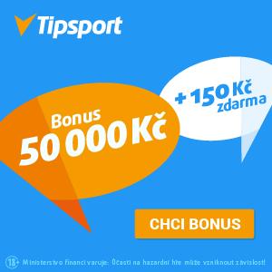 Založte si účet u Tipsportu a získejte zdarma 150 Kč a k tomu bonus až 50 000 Kč!