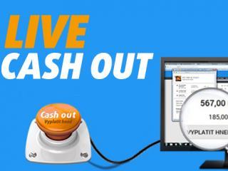 Cash out můžete využít také v live sázkách
