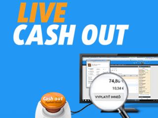 Cash out môžete využiť aj v live stávkach
