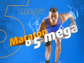 Maraton o 5 mega už jede. Nezapomeňte si i dnes vsadit za 200 Kč